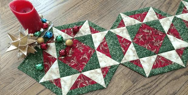 Christmas Version of Patriot Stars Table Runner