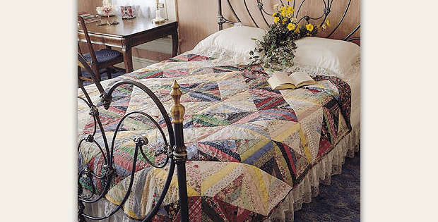 Lazy Log Cabin Bed Quilt