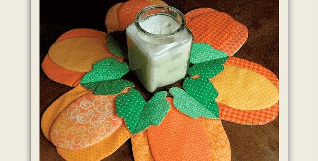Fabric Pumpkin Centerpiece