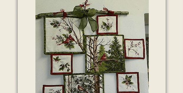 Wall Hanging Made from a Fabric Panel