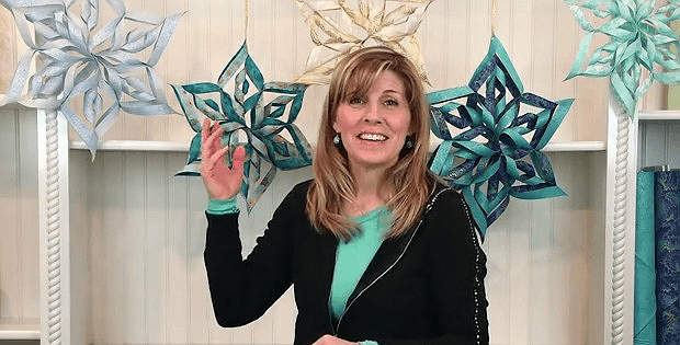 Large Fabric Snowflakes