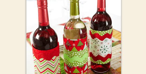 Festive Wine Wraps