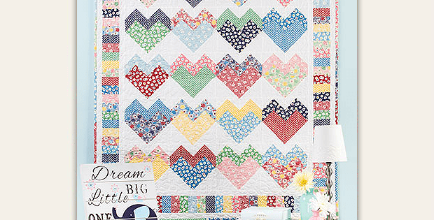 Pieced Hearts Quilt