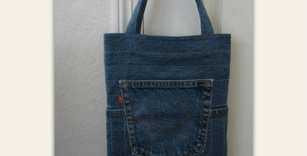 Quilted Jeans Tote