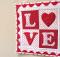 """""""LOVE"""" Letters Mini Quilt"""