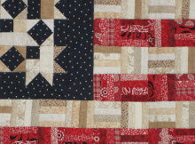 Scrappy American Flag Quilt