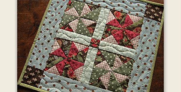Pinwheel Doll Quilt or Table Mat