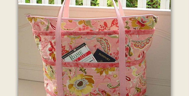 The Quilted Traveler's Tote Bag