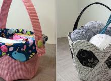 Fabric Tulip Baskets