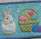 Bunny and Basket Mug Rug