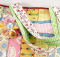 Jelly Roll Tote with Fabric Flower Pin