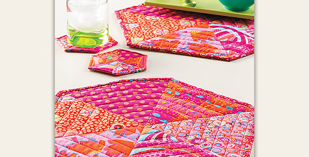 Mega Hexie Place Mats and Coasters