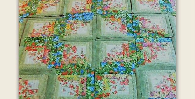 This log cabin quilt has a fresh new look quilting digest