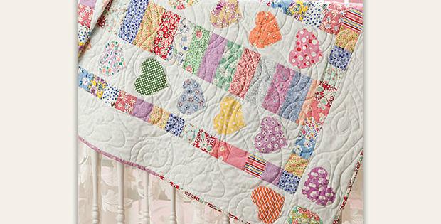 Hearts A-Flutter Baby Quilt Pattern