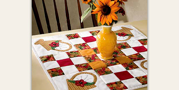 Basket Table Topper Pattern