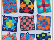 Modern Patch Pot Holders Pattern