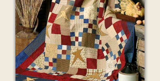 Nine-Patch and Four-Patch Stars Quilt Pattern