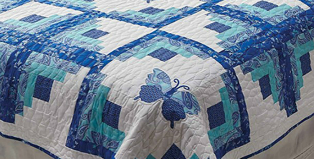 Butterflies Make This Log Cabin Quilt Special Quilting