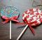 Fabric Lollipop Christmas Ornament