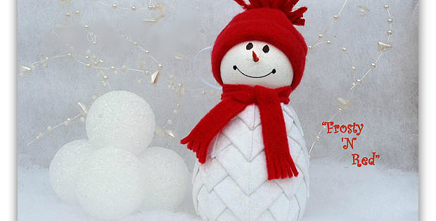 Quilted Fabric Snowman Ornament Pattern