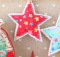 Simple Christmas Ornaments an Drawstring Bags