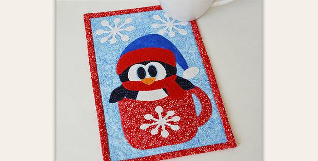 Cup O'Winter Mug Rug Pattern