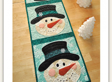 Patchwork Snowman Table Runner Pattern