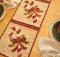 Vintage December Table Runner Pattern