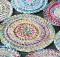 Fabric Twine Spiral Mat