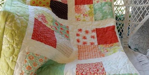Scrappy Four-Patch Lap Quilt Pattern