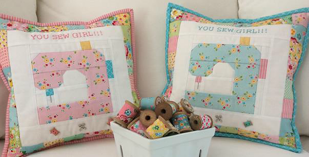 You Sew Girl Pillow Pattern