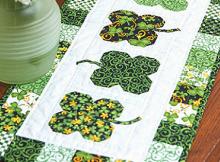 Luck O' the Irish Table Runner Pattern