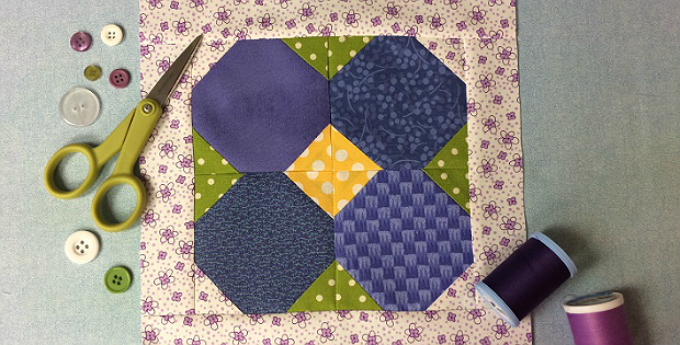 May Flower Quilt Block