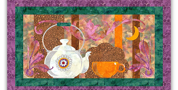 Tea Time Art Quilt Pattern