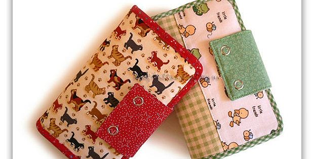 Make a Lovely Wallet in Beautiful Fabric
