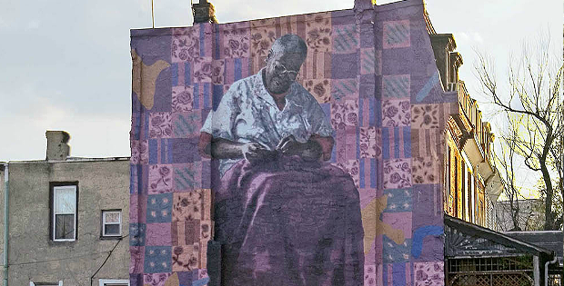 Holding Grandmother's Quilt Mural