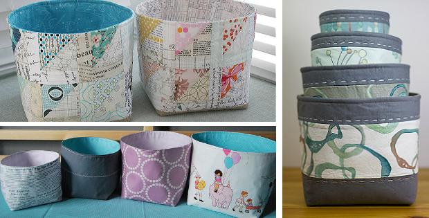 Nesting Fabric Baskets Pattern