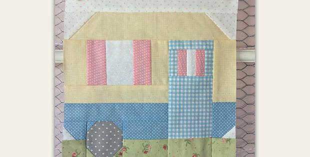 Happy Camper Quilt Block Pattern