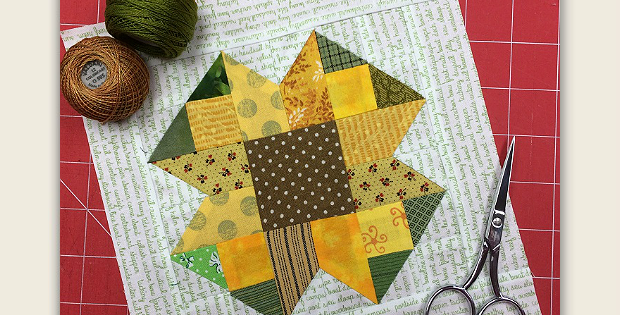 Scrappy Sunflower Block Tutorial