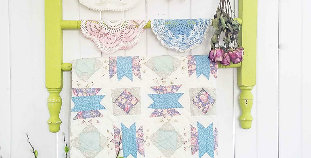 Create a Quilt Rack from Cast Off Furniture Parts