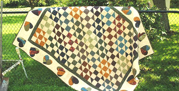 Scrappy Hearts Quilt Pattern