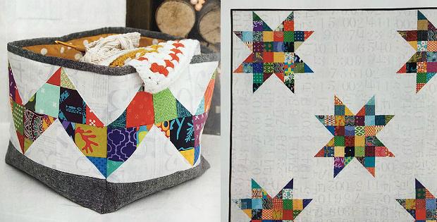 Scrap Quilt and Storage Basket Pattern