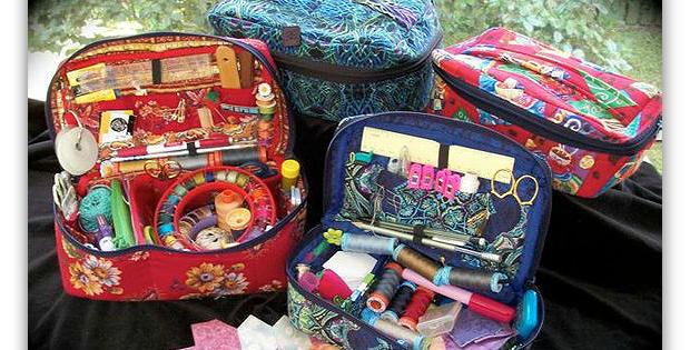 Fabric Sewing Basket Pattern