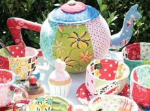 Fabric Tea Set Pattern