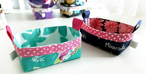 Two Tips for More Polished Fabric Baskets and Bags