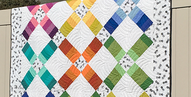 Jelly Roll Railway Quilt