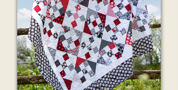 Nine Patch and Hourglass Quilt Pattern