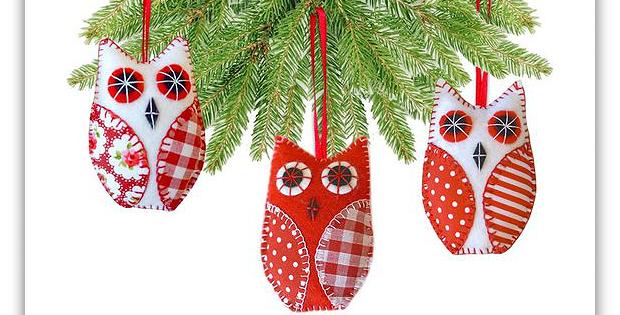Owl Christmas Tree Decorations Pattern