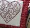 Redwork Heart Cushion Pattern