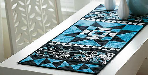 Blue Diamonds Table Runner Pattern